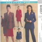 M4657 McCalls PALMER PLETSCH Lined Jacket , Pants, Skirt  Misses Size CCD 10,12,14,16