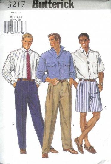 B3217 Butterick Pattern Shirt, Shorts, Pants Men Size  L, XL
