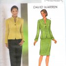 B3917 Butterick Pattern DAVID WARREN Jacket, Skirt, Pants Misses/Miss Petite Size 12, 14,16