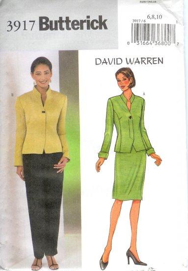 B3917 Butterick Pattern DAVID WARREN Jacket, Skirt, Pants Misses/Miss Petite Size 18, 20, 22