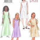 B3676 Butterick Pattern Dress, Scarf PLUS Girls Size 7, 8, 10, 12, 14