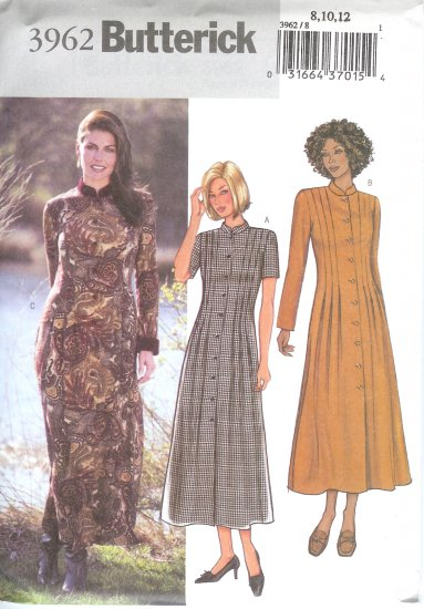 B3962 Butterick Pattern EASY Dress Misses/Miss Petite Size 8, 10, 12
