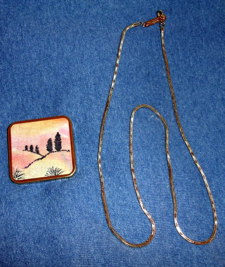 Signed NAPIER Chain with Brooche