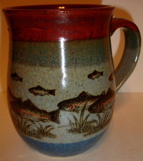 Very Nice Fish Glazed Clay Mug