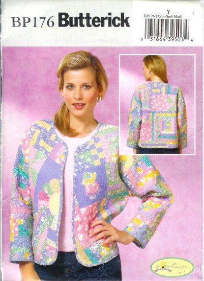 BP176 Butterick Pattern  Quilted Jacket Size Misses Z   L-XL