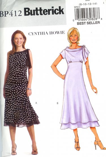 BP412 Butterick Pattern CYNTHIA HOWIE EASY Dress Misses/Miss Petite Size FF 16-18-20-22