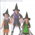 B4256 Butterick Pattern EASY Witch Costume Childs/Girls Size 2, 3, 4, 5