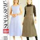 B4578 Butterick Pattern EASY SEE&SEW Dress Misses/Miss Petite Size A 8-14
