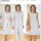 B6001 Butterick Pattern DAVID WARREN Jacket, Dress,Top, Pants Misses/Miss Petite Size 20,22,24