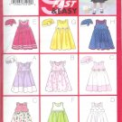 B6486 Butterick Pattern 9 SEW FAST&EASY Dress Girl Todd/Child Size 4, 5, 6