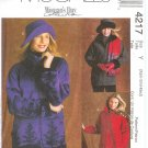 M4217 McCalls Pattern WOMANS DAY Unlined Jackets, Hat Misses/Miss Petite Size Y   XS-S-M