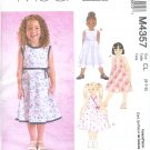 M4357 McCalls Pattern LAURA ASHLEY Dresses Child/Girl Size CCE 3-4-5-6