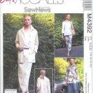 M4392 McCalls Pattern EASY Unlined Jacket, Tops, Pants & Skirt  Misses/Miss Petite Size 12-14-16-18