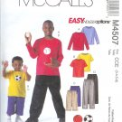M4507 McCalls EASY ENDLESS OPTIONS Tops with appliques, Shorts, Pants Child/Boys Size 3-4-5-6
