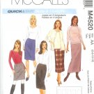 M4520 McCalls Pattern QUICK&EASY Skirts in 5 lengths Misses Size 6-8-10-12