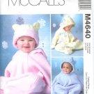 M4640 McCalls FABULOUS FLEECE Buntings and Hats Infants Size