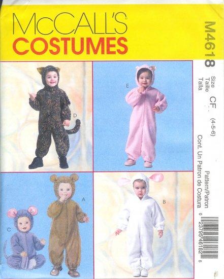 M4618 McCalls Pattern COSTUMES Toddler/Child Size CB 1-2-3