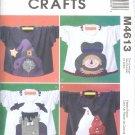 M4613 McCalls Pattern CRAFTS Sweatshirt Appliques