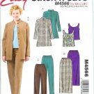 M4566 McCalls Pattern STITCH N SAVE Shirt-Jacket,Tank Top,Skirt, Pants Misses/Miss Petite Size  8-14
