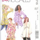 M4715 McCalls Pattern EASY Tunics Misses Size AA 6-8-10-12