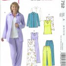 M4752 McCalls Pattern STITCH N SAVE Jacket, Top, Dress, Pants Misses/Miss Petite Size B 16-18-20-22