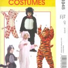 M4945 McCalls Pattern EASY COSTUMES Toddlers/Child Size CB 1-2-3