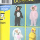 S3996 Simplicity Pattern (FOR DUMMIES) COSTUMES Toddler Size A  1/2, 1, 2, 3, 4