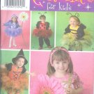 S4090 Simplicity Pattern COSTUMES for KIDS Toddler Size A  1/2, 1, 2, 3, 4