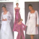 S5246 Simplicity Pattern Evening Dress, Coat with Train or Jacket  Misses/Miss Petite Size HH 6-12