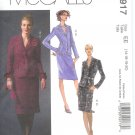 M4917 McCalls Pattern Lined Jackets & Skirts Misses/Miss Petite EE 14-16-18-20