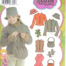 S4818 Simplicity Pattern LIZZIE McGUIRE Jacket or Vest, Scarf, Hat, Bag, Mittens Girls Size A  7-16