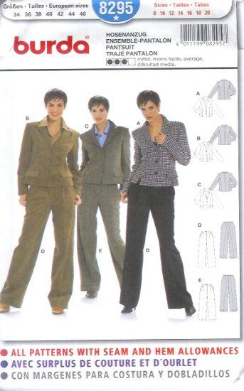 Burda 8295 Pattern Pantsuit Size 8 - 20