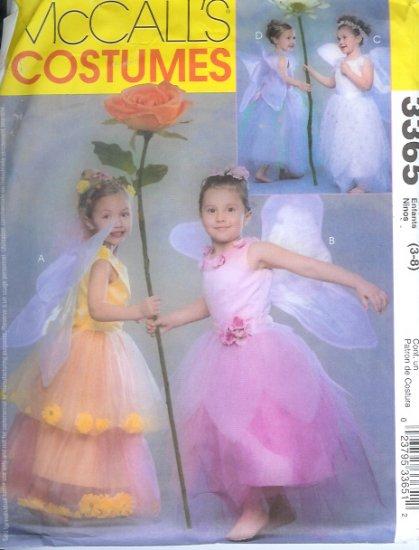 M3365 McCalls Pattern FLOWER FAIRY Costumes  Childs/Girls Size 3 - 8