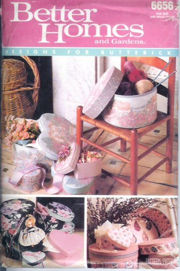 B6656 Butterick Pattern (1988) BETTER HOMES AND GARDENS Boxes