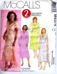 M4374 McCalls 2 HOUR Dress Misses/ Miss Petite Size DD 12-14-16-18