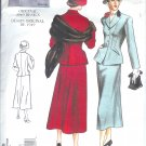 V2476 Vogue VINTAGE MODEL 1949 Design Jacket & Skirt Misses Size 6, 8, 10