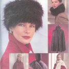 V7505 Vogue Pattern ACCESSORIES Hat, Collar, Stole, Capelet , Cape All Sizes