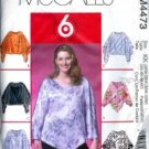 M4473 McCalls Pattern 6 Great Looks EASY Tops Womens Size 26W-28W-30W-32W