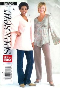 B4325 Butterick Pattern EASY Top PETITE Misses Size 12 -14-16