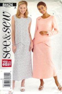 B4424 Butterick Pattern EASY Top & Skirt  Misses Size 14 -16-18