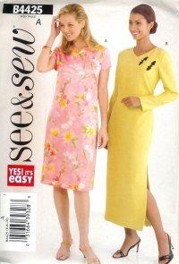 B4425 Butterick Pattern EASY  Dress PETITE  Misses Size 12 -14-16