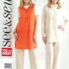 B4429 Butterick Pattern EASY Jacket, Vest, & Pants PETITE  Misses Size 8 - 10 - 12