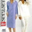 B4430 Butterick Pattern EASY Top, Pants & Nightshirt PETITE  Misses Size XS, S, M