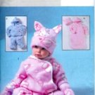 B4333 Butterick Pattern EASY Bunting, Jacket, Pants, Jumpsuit, Hat, & Mittens Infant OSZ