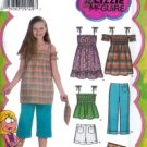 S4614 Simplicity LIZ McGUIRE Crop Pants,Shorts,Dress,Mini-Dress or Tunic, Top,Purse Child/Girl 3 - 6
