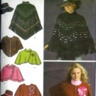S4359 Simplicity Pattern Poncho in 2 lengths, Capelet & Hat in 3 sizes S-M-L