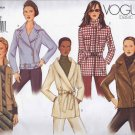 V2614 Vogue BASIC DESIGN Pattern Jacket Miss Size 18, 20, 22