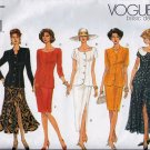 V1173 Vogue Pattern Top and Skirt Miss Petite Size 6, 8, 10