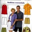 B4559 Butterick Pattern FASHION ESENTIALS Shirt and Short Miss/Men/Teen Boy Size XS-S-M