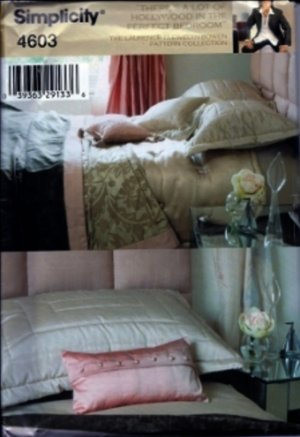 S4603 Simplicity Pattern HOLLYWOOD in the PERFECT BEDROOM Design by Laurence Llewelyn-Bowen